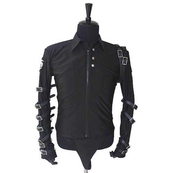 Bad Tour Black Shirt With Buckles